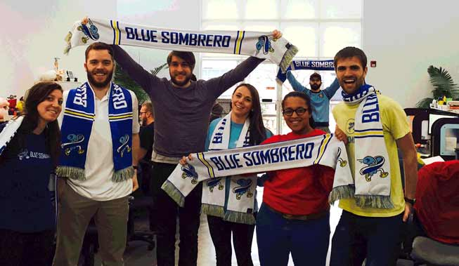 blue sombrero promotion event scarves