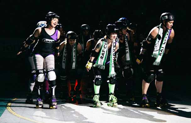 rat city roller derby girls scarves
