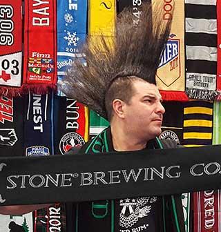 stone brewing company custom brewery scarf