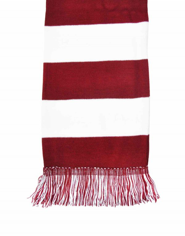 wine and white bar scarf