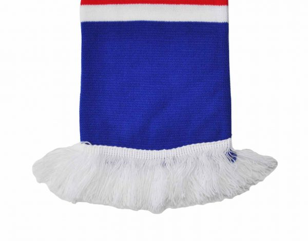 blue red and white bar scarf