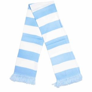 light blue bar scarf