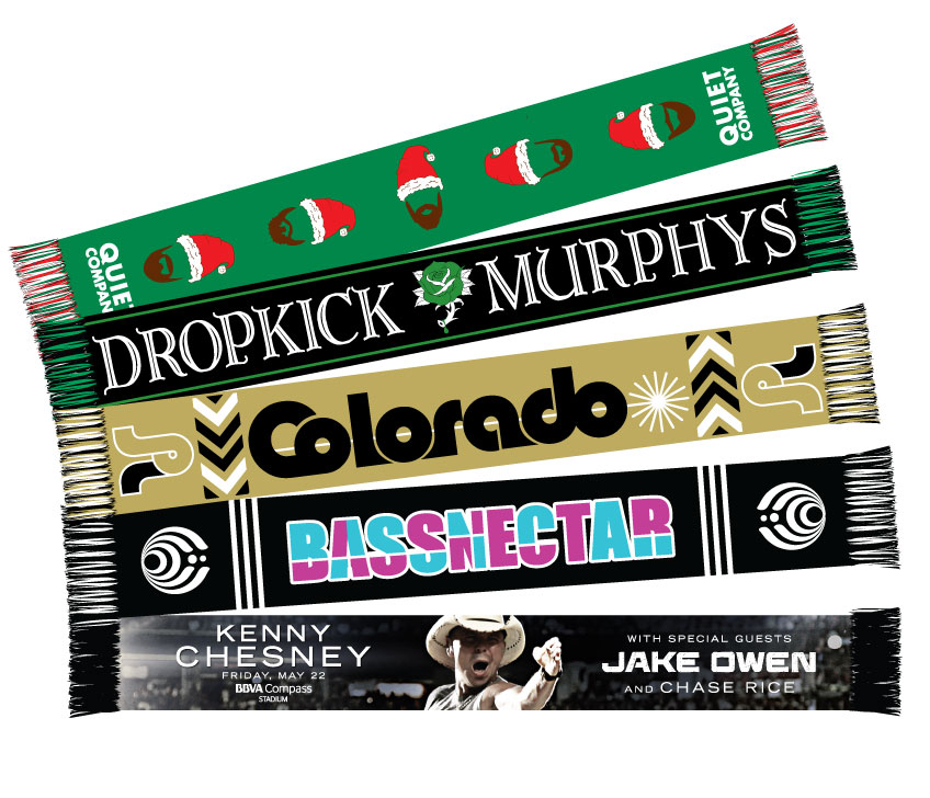 custom band scarf fan featuring dropkick murphys