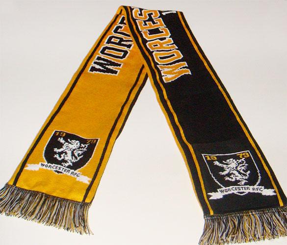 worcester rugby custom scarf