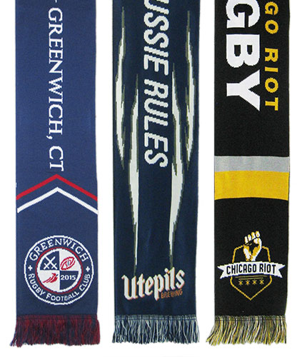 rugby sports scarves