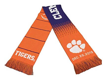 Official CFP LSU vs Clemson National Championship Game Knitted Scarf 1-13-20